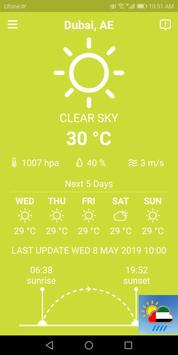 Dubai Weather Forecast poster