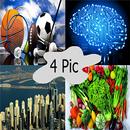 أربع صور فى كلمة - جديد APK