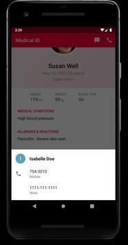 Medical ID - In Case of Emergency (ICE) تصوير الشاشة 4