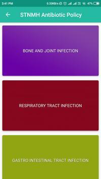STNMH Antibiotic Policy screenshot 2
