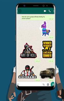 Battle Royale Stickers For WhatsApp screenshot 1