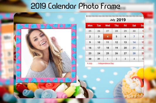 Calendar Photo Frame 2019 screenshot 2