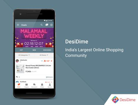 DesiDime - Online Deals & Coupons screenshot 1