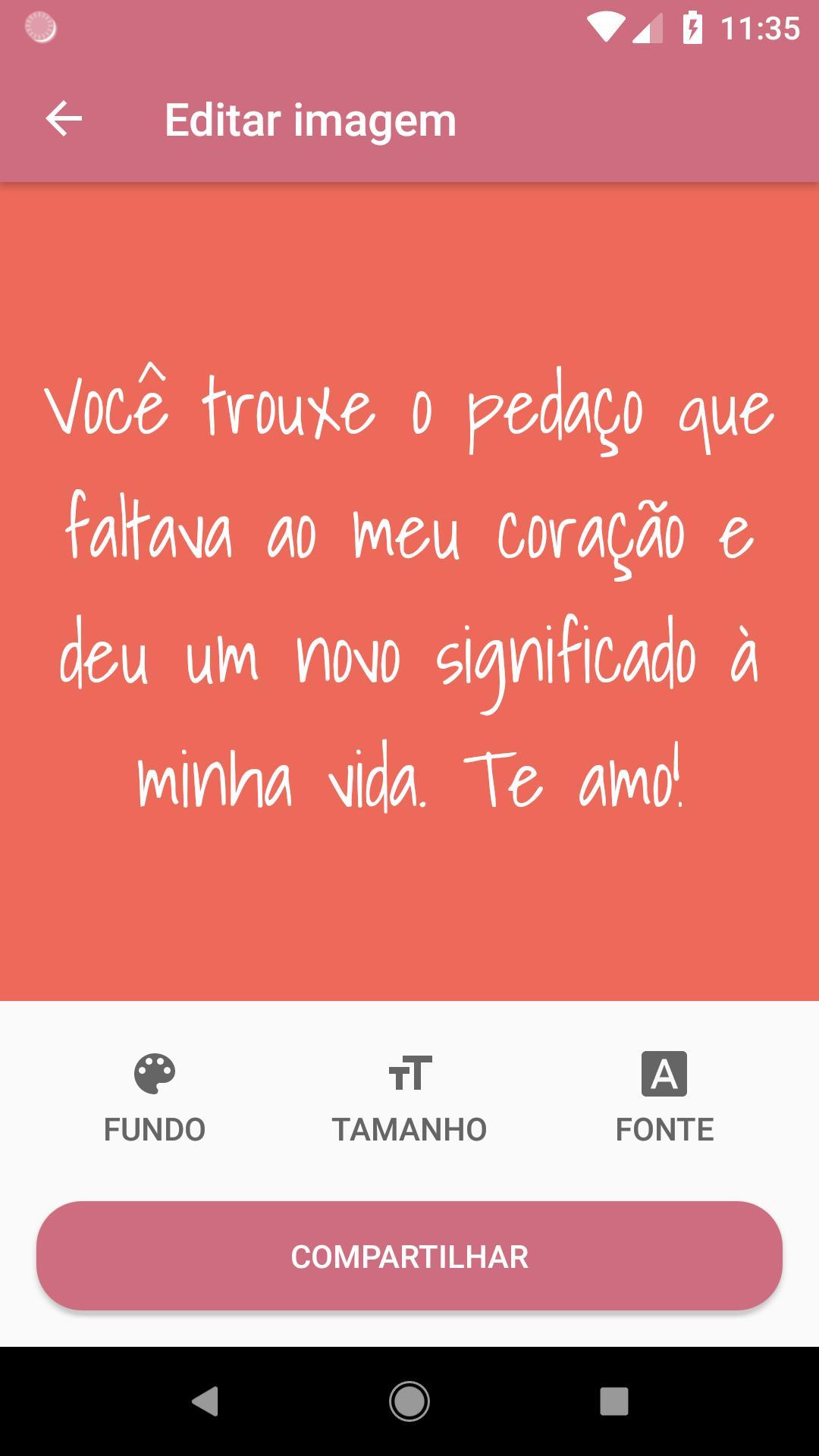 Frases De Amor Prontas Para Whatsapp E Facebook For Android