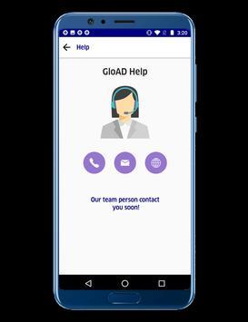 GloAD Registration Request screenshot 3