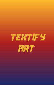 Textify Art poster