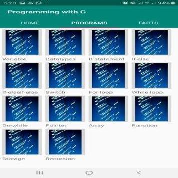 Programming with C screenshot 1