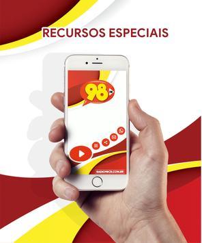 Radio 98 FM Campo Belo - MG screenshot 2