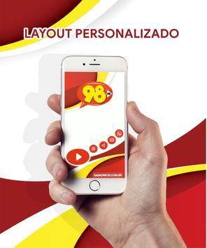 Radio 98 FM Campo Belo - MG screenshot 3