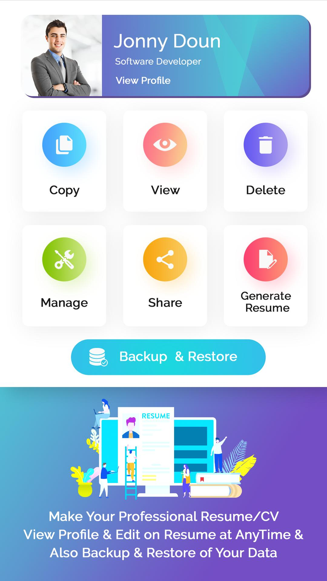 Resume Builder Free Cv Maker With Pdf Word Format For Android Apk Download