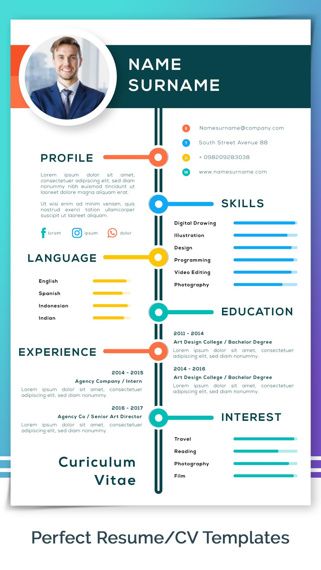 Resume Builder Free Cv Maker With Pdf Word Format For