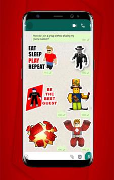Roblox Stickers For WhatsApp - WAStickerApp poster