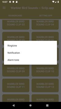 Warbler Bird Sound Collections ~ Sclip.app screenshot 2