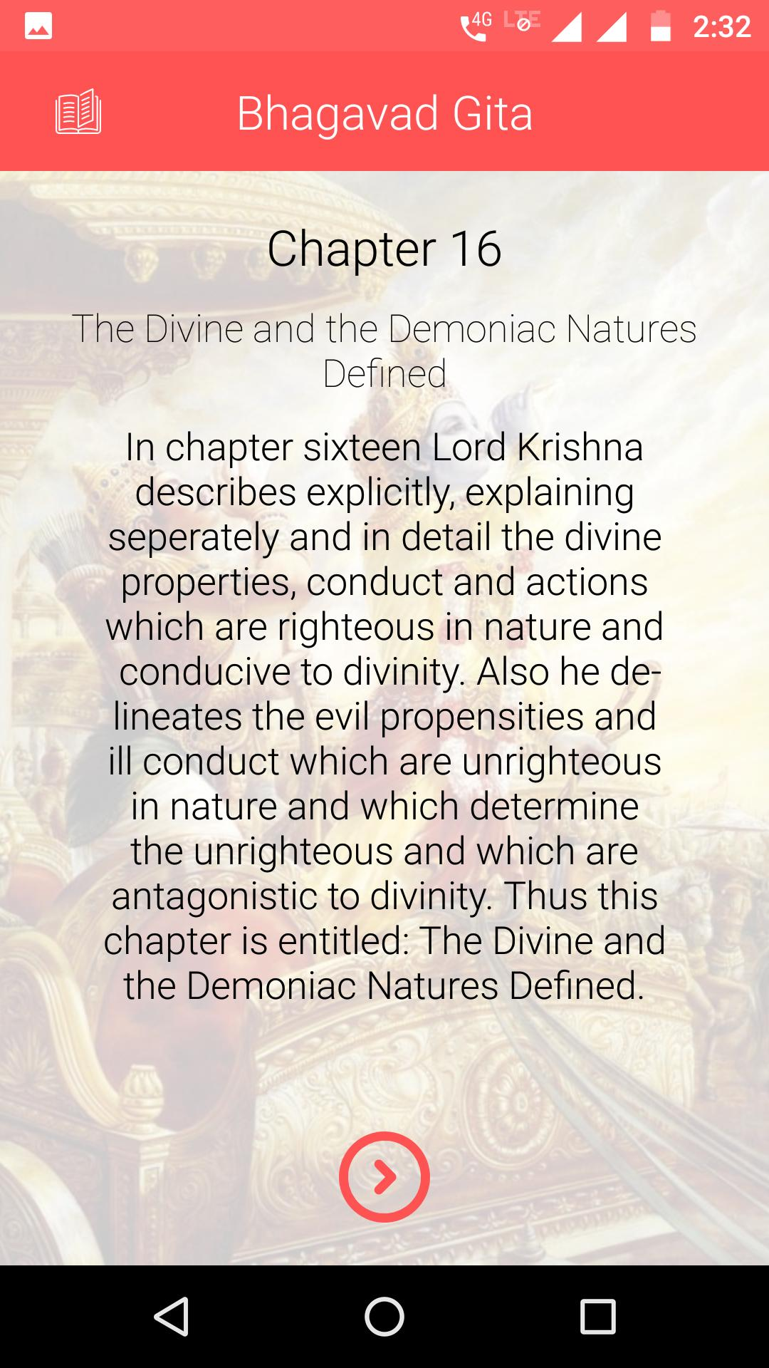 Offline Daily Bhagavad Gita in English for Android - APK