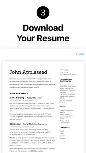 Resume Builder App Free Pdf Templates Cv Maker Apk 2 1 0