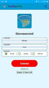 Toofan Pro Vpn screenshot 1