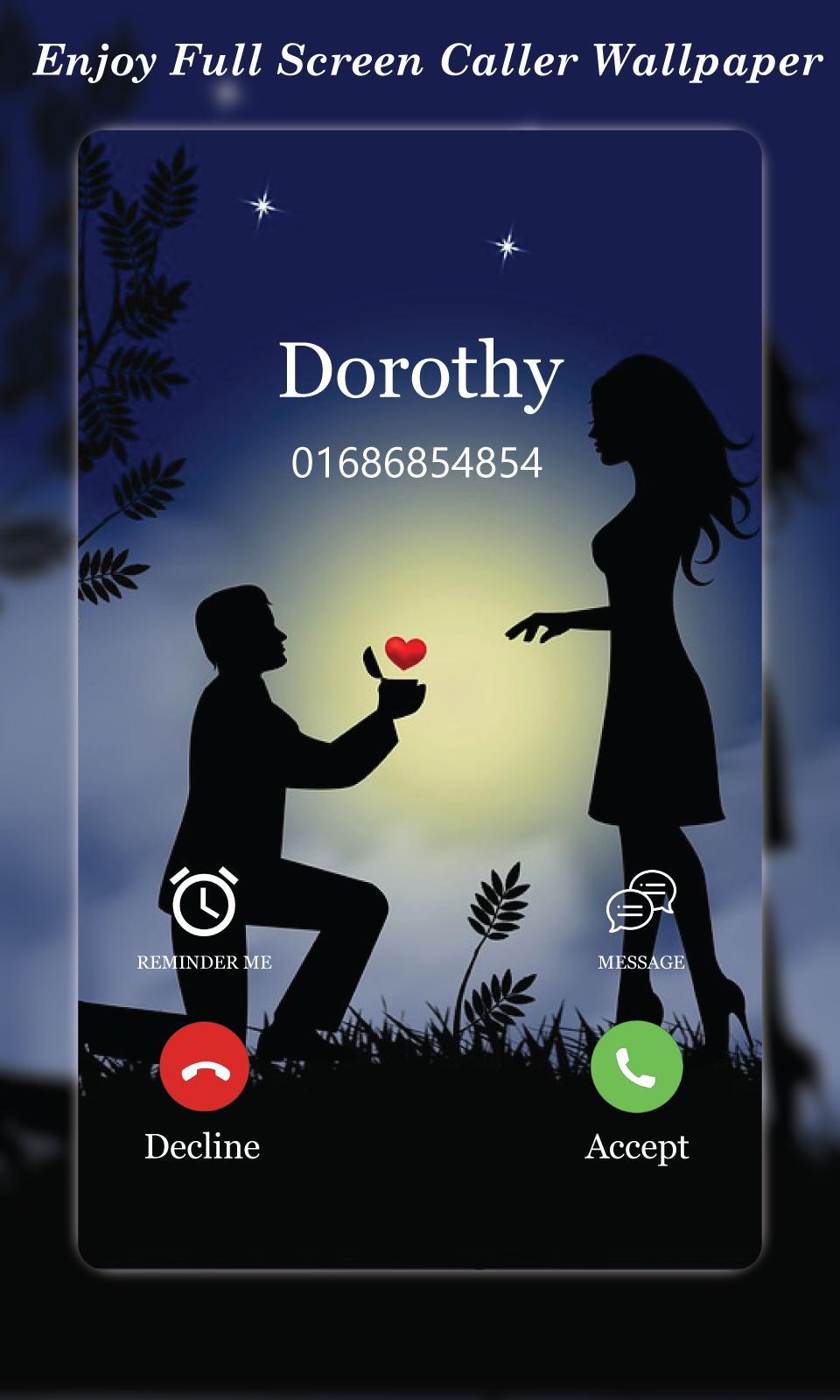 Call Screen Wallpaper caller Theme for ...