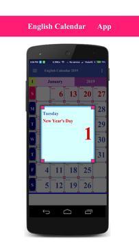 Calendar 2019 South Africa screenshot 1