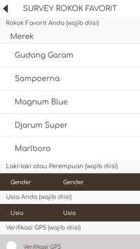 Survey Rokok Favorit screenshot 1
