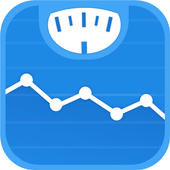 वजन डायरी और बीएमआई कैलकुलेटर – WeightFit आइकन