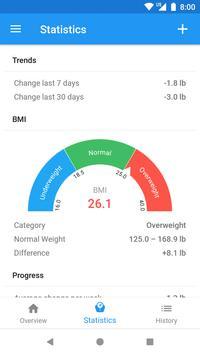 Weight Loss Tracker & BMI Calculator – WeightFit screenshot 1
