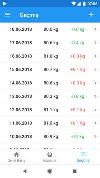 Ağırlık günlüğü ve BMI hesaplayıcısı – WeightFit Ekran Görüntüsü 8