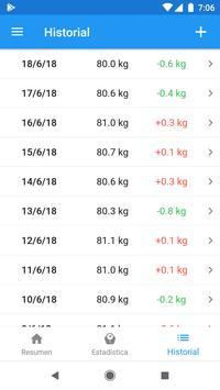 Diario de peso & Calculadora de IMC – WeightFit captura de pantalla 8
