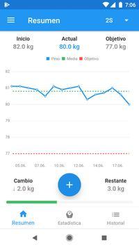 Diario de peso & Calculadora de IMC – WeightFit Poster