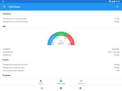 Journal de poids et calculateur d'IMC – WeightFit capture d'écran 4