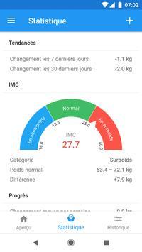 Journal de poids et calculateur d'IMC – WeightFit capture d'écran 7