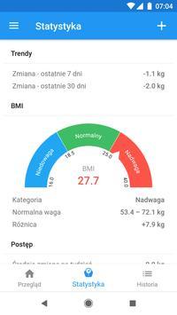 Pamiętnik wagi i kalkulator BMI – WeightFit screenshot 7