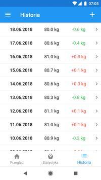 Pamiętnik wagi i kalkulator BMI – WeightFit screenshot 2