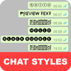 Chat Styles ícone