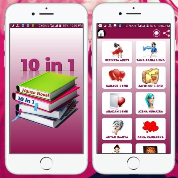 10 in 1 Hausa Novel | 10 Hausa Novels books for Android
