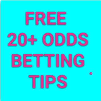 Free 20+ Odds Betting Tips poster