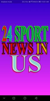 24 Sport News in US poster
