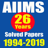 26 Years AIIMS Solved Papers 1994-2019 icon