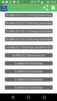26 Years AIIMS Solved Papers 1994-2019 screenshot 1