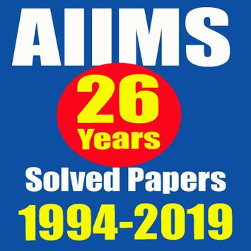 26 Years AIIMS Solved Papers 1994-2019 poster