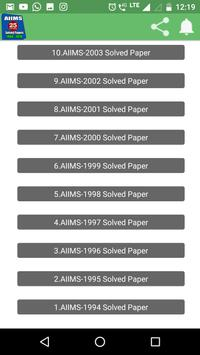 26 Years AIIMS Solved Papers 1994-2019 screenshot 3