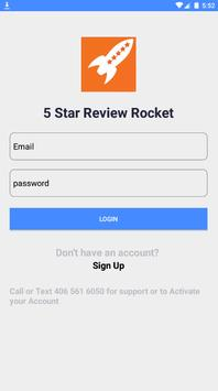 5 Star Review Rocket poster