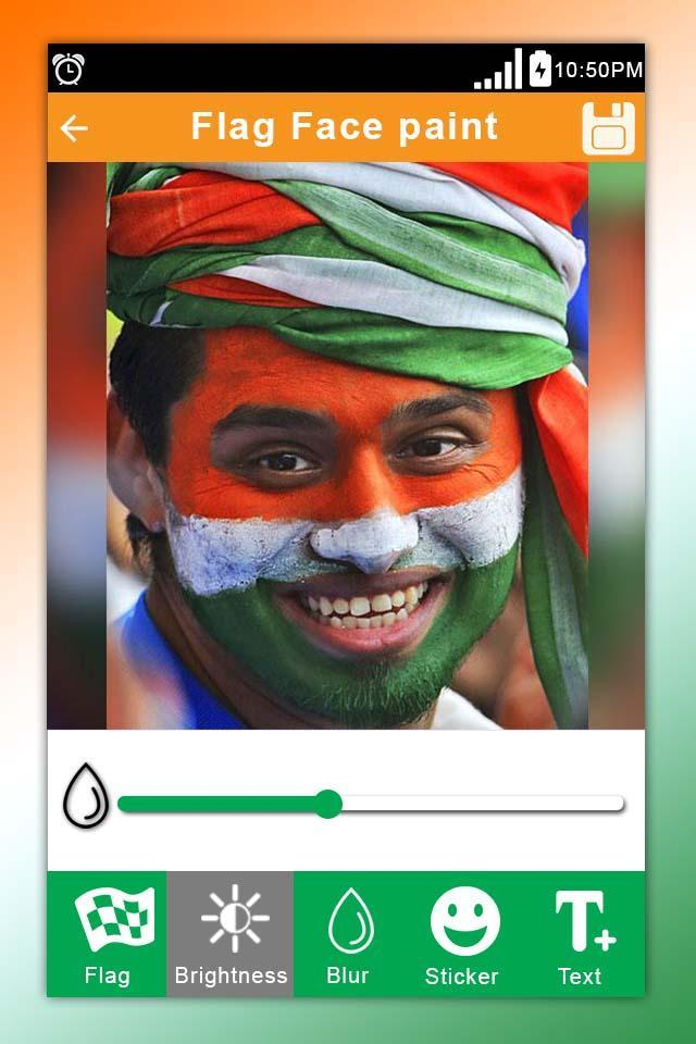 Indian Flag on Face Maker: Independence Day Face for Android - APK