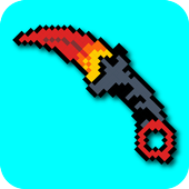 How to draw pixel weapon drawing step by step أيقونة