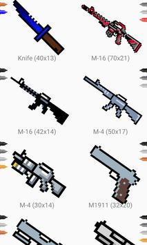 How to draw pixel weapon drawing step by step تصوير الشاشة 16