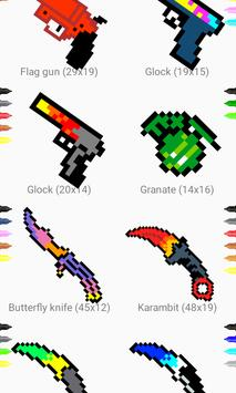 How to draw pixel weapon drawing step by step تصوير الشاشة 1