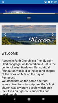 Apostolic Faith Church poster