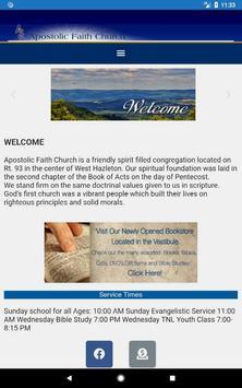 Apostolic Faith Church screenshot 1