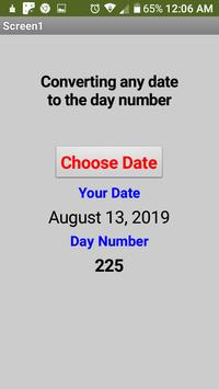 Converting any date to the day number poster