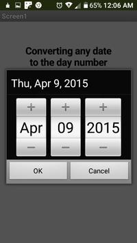 Converting any date to the day number screenshot 2