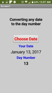 Converting any date to the day number screenshot 4